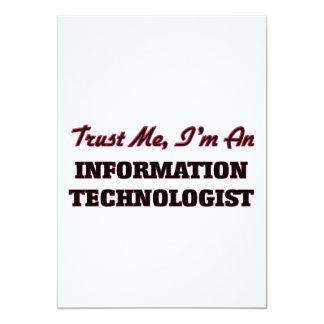 """Confíe en que yo es tecnólogo de la información invitación 5"""" x 7"""""""