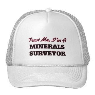 Confíe en que yo es topógrafo de los minerales gorros