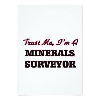 Confíe en que yo es topógrafo de los minerales anuncios personalizados
