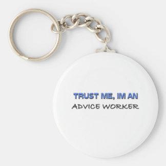 Confíe en que yo es trabajador del consejo llaveros personalizados
