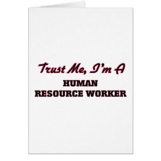 Confíe en que yo es trabajador del recurso humano tarjetón