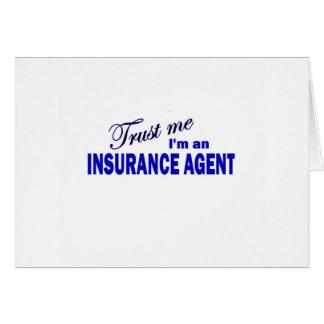 Confíe en que yo es un agente de seguro tarjetón