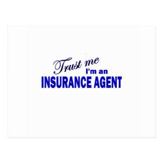 Confíe en que yo es un agente de seguro tarjetas postales