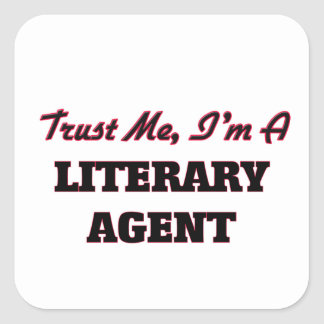Confíe en que yo es un agente literario colcomanias cuadradas personalizadas