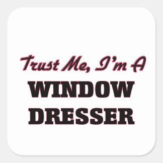 Confíe en que yo es un aparador de ventana pegatina cuadrada