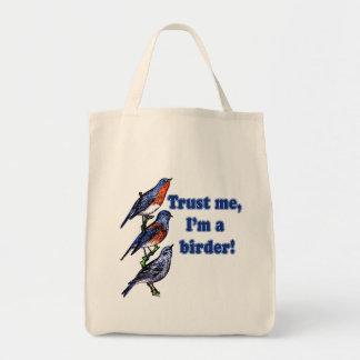 Confíe en que yo es un Birder Bolsa Tela Para La Compra