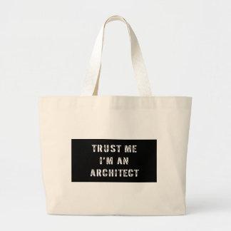 Confíe en que yo es un bolso del arquitecto bolsa tela grande