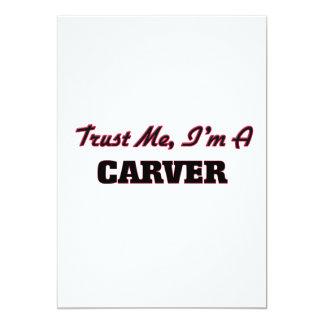Confíe en que yo es un Carver Invitación 12,7 X 17,8 Cm