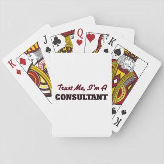 Confíe en que yo es un consultor cartas de juego