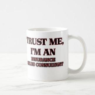 Confíe en que yo es un consultor de las ventas del tazas de café