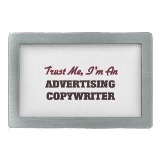 Confíe en que yo es un Copywriter de la publicidad Hebilla Cinturon Rectangular