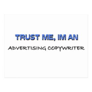Confíe en que yo es un Copywriter de la publicidad Postal