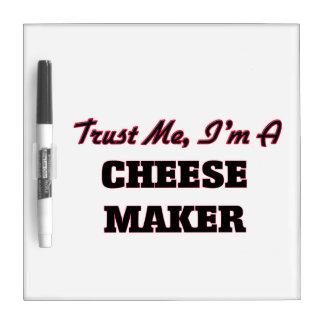 Confíe en que yo es un fabricante del queso tablero blanco