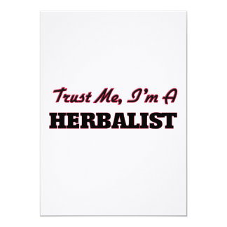 Confíe en que yo es un Herbalist Invitacion Personal