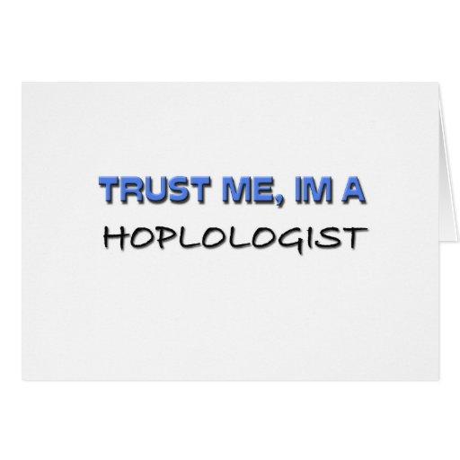 Confíe en que yo es un Hoplologist Tarjeton