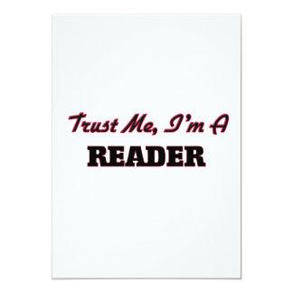 """Confíe en que yo es un lector invitación 5"""" x 7"""""""