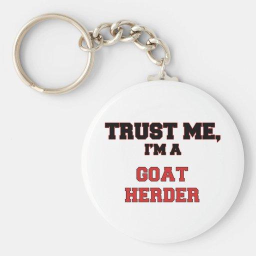 Confíe en que yo es un mi pastor de la cabra llavero