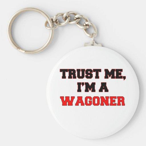 Confíe en que yo es un mi Wagoner Llavero Redondo Tipo Pin