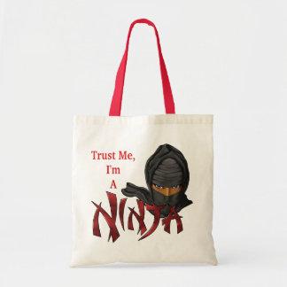 Confíe en que yo es un Ninja Bolsas De Mano