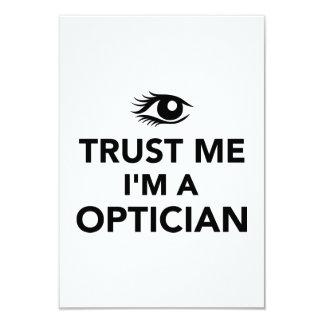Confíe en que yo es un óptico invitación personalizada