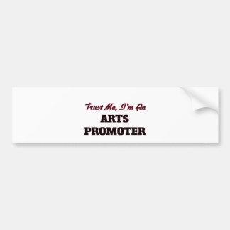 Confíe en que yo es un promotor de los artes pegatina de parachoque