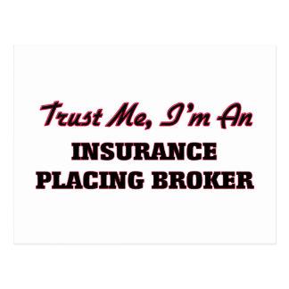 Confíe en que yo es un seguro que coloca el agente postales