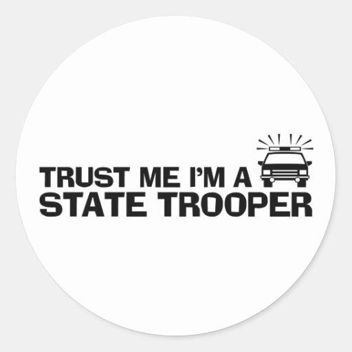 Confíe en que yo es un soldado de caballería estat etiquetas