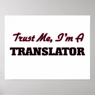 Confíe en que yo es un traductor impresiones