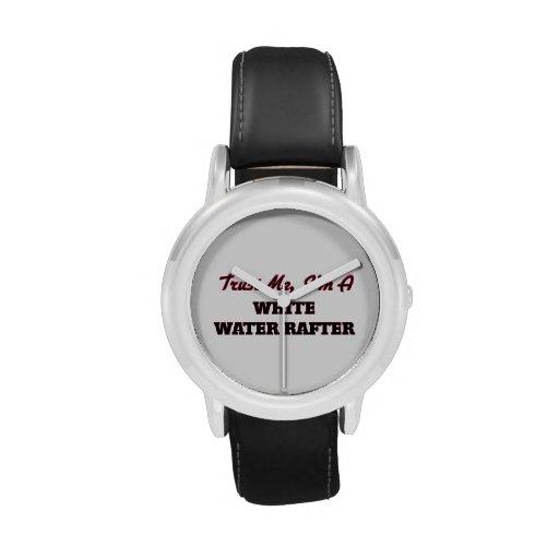 Confíe en que yo es un viga del agua blanca relojes de mano