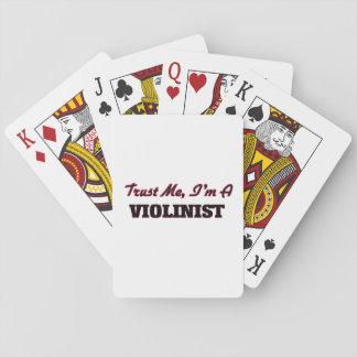 Confíe en que yo es violinista cartas de juego
