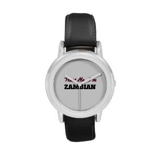 Confíe en que yo es zambiano relojes de pulsera