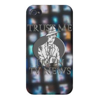 Confíe en que yo está en noticias de la TV iPhone 4/4S Carcasa