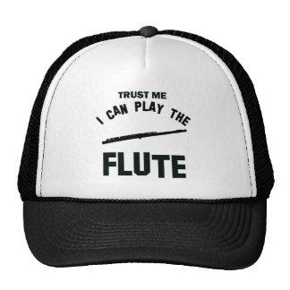 Confíe en que yo puede tocar la FLAUTA Gorro De Camionero