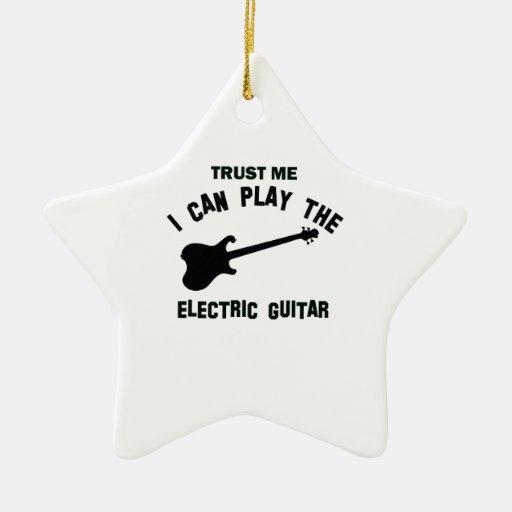 Confíe en que yo puede tocar la GUITARRA ELÉCTRICA Ornato