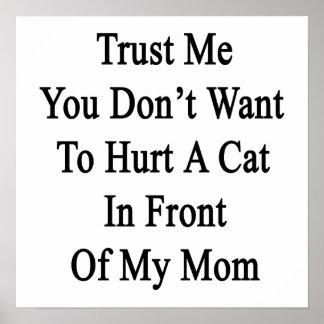 Confíe en que yo que usted no quiere dañar un gato impresiones