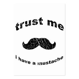 Confíe en que yo tiene un bigote tarjetas personales
