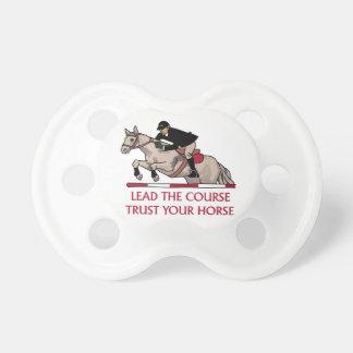 Confíe en su caballo chupetes de bebé