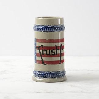 Confíelo en cerveza Stein Tazas