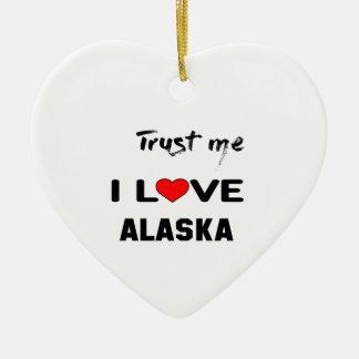 Confíeme en amor ALASKA de I Adorno Navideño De Cerámica En Forma De Corazón