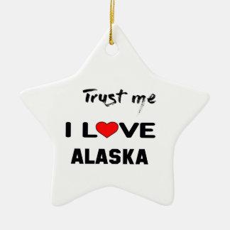 Confíeme en amor ALASKA de I Adorno Navideño De Cerámica En Forma De Estrella