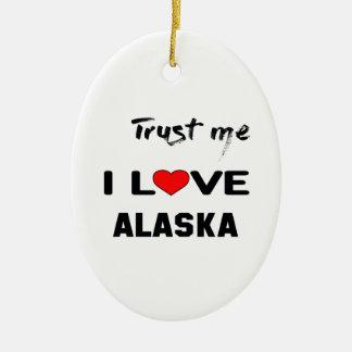 Confíeme en amor ALASKA de I Adorno Navideño Ovalado De Cerámica