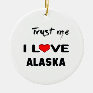 Confíeme en amor ALASKA de I Adorno Navideño Redondo De Cerámica