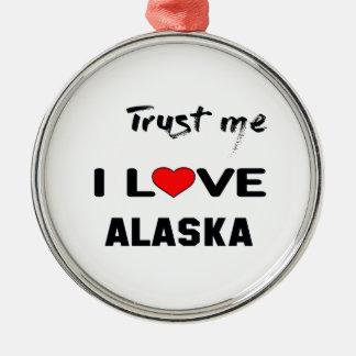 Confíeme en amor ALASKA de I Adorno Navideño Redondo De Metal