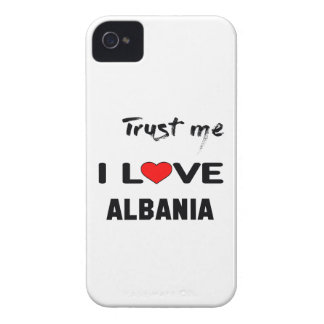 Confíeme en amor Albania de I Case-Mate iPhone 4 Protectores