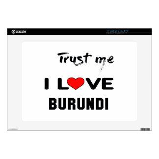 Confíeme en amor Burundi de I 38,1cm Portátil Calcomanía