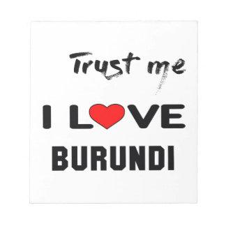 Confíeme en amor Burundi de I Blocs De Notas