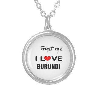 Confíeme en amor Burundi de I Colgante Redondo