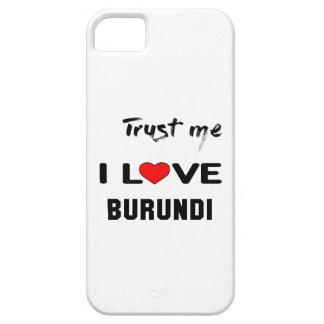 Confíeme en amor Burundi de I Funda Para iPhone SE/5/5s