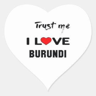Confíeme en amor Burundi de I Pegatina En Forma De Corazón