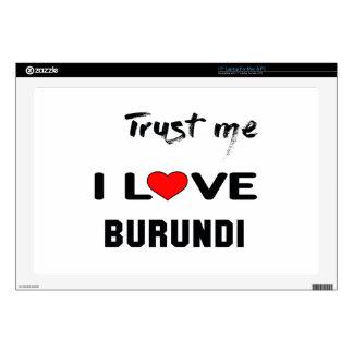 Confíeme en amor Burundi de I Skins Para 43,2cm Portátiles